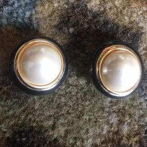 Christian Dior vintage clip on earrings.